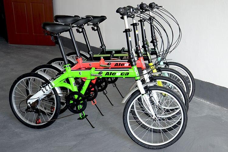 Norwich 20inch 6 Kecepatan Fluoresensi Warna Mountian Sepeda Lipat Double V Panggang Sepeda Aliexpress