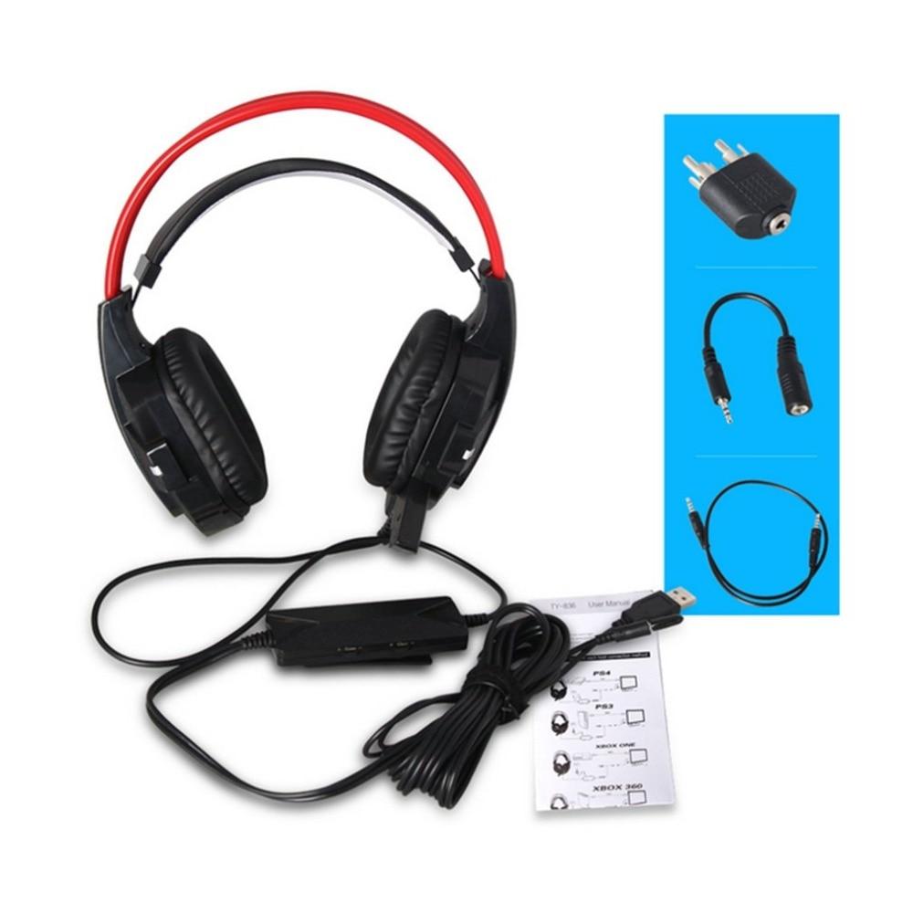 TY-836 jeu multi-fonction casque USB filaire Gamer casque de jeu casque pour PS4 Slim Pro Xbox PC