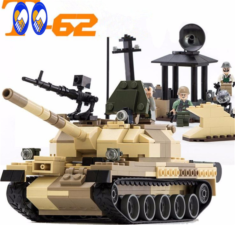 2016 New Military Tank Series WW2 Russia The T-62 main battle tanks model Building Block Classic toys Compatible with Lepin