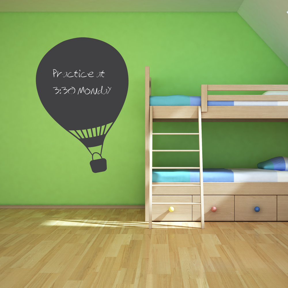 Groovy Us 6 97 25 Off Hot Air Balloon Chalkboard Wall Art Stickers Kids Room Bedroom Creative Decor Decals Adesivo De Parede Removable Sticker Zb070 In Download Free Architecture Designs Grimeyleaguecom