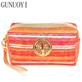 GUNUOYI Women Travel Cosmetic Bag Portable Velour Makeup Bag Zipper Bag Cosmetics to Receive Package Cosmetic Beautician Bags
