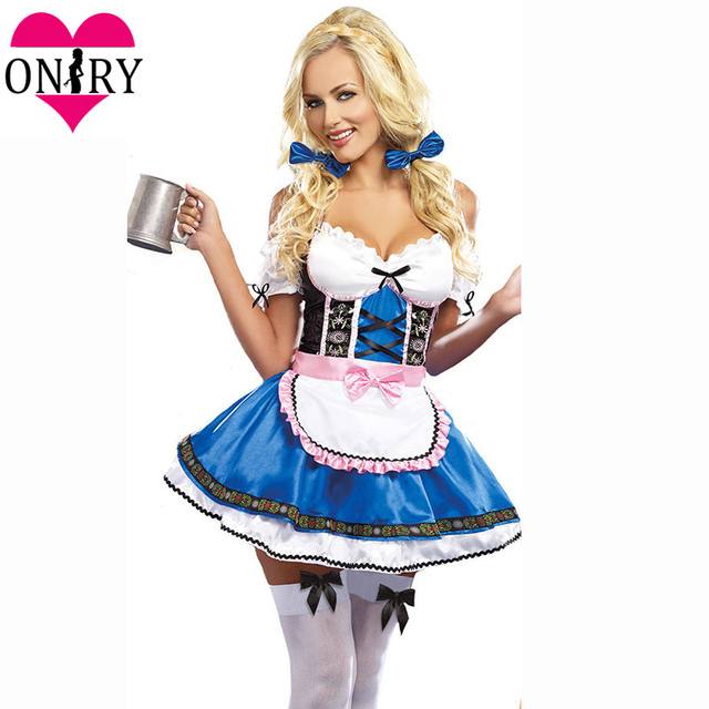 13336190b0 Adult Cosplay Dress Plus Size Halloween Costumes For Women Sexy Oktoberfest Beer  Girl Costume German Bavarian Beer Maid Outfits