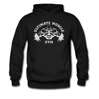 Gym Muscle Physical Exercise Funny Hoodies Custom Sweatshirts Print Bodybuilding Letters Long Sleeve Hoody Brand Clothing