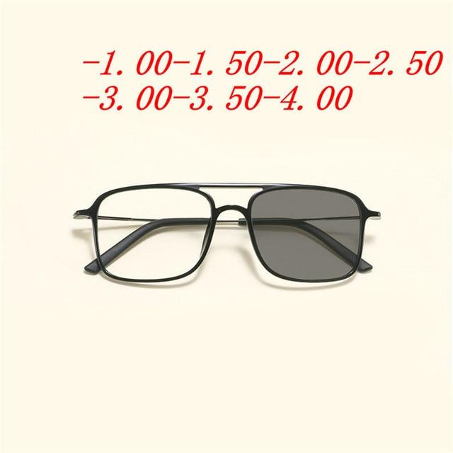 43cd5f694f Cuadrado miopía terminado hombres mujeres miopía gafas marco lentes fotosensibles  gafas de sol miopía FML