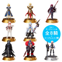 цена на 6CM 8pcs/lot Japanese anime figure Fate FGO Saber Merlin action figure collectible model toys for boys EOF0