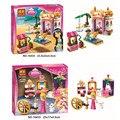 Bela 10434 10433 Sonho Menina Dormindo Série Aladdin Princesa Jasmine's Exótico Palácio Figuras Tijolos Brinquedos de Blocos de Construção