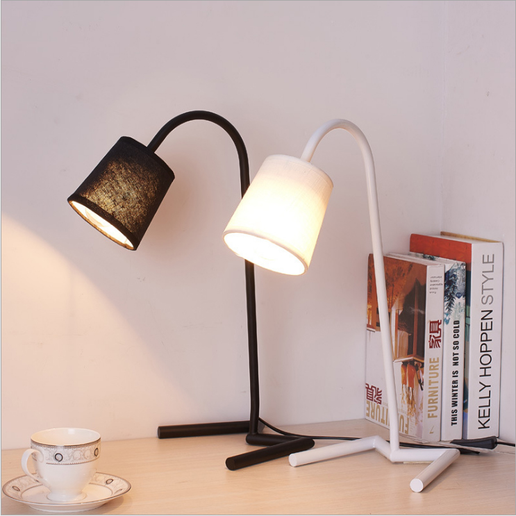 Led Desk Lamp Lustre Modern Table Lamp Reading Study Light Bedroom Bedside Lights Acrylic Lampshade Home Lighting Design Lamps creative eu plug robot folding desk lamp fashion wood read table lights study reading lamps bedside lighting for bedroom s2