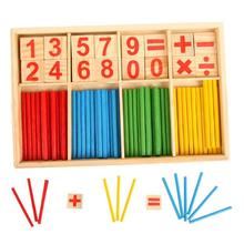 New Arrival Baby Education Math Toys Wooden Counting Sticks Montessori Mathematical Gift Box Dropship