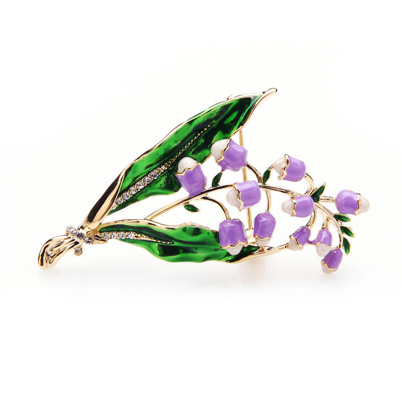 Wuli baby Purple Pink Lavender Flowers Brooches Alloy Classic Women Weddings Brooch Pins Christmas Gifts in Brooches from Jewelry Accessories