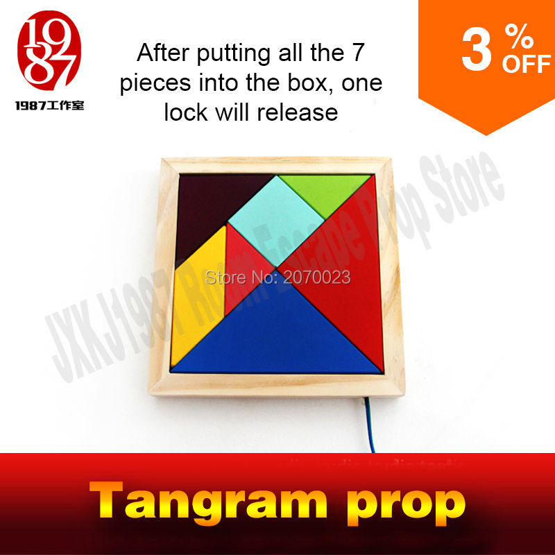 Tangram Prop For Room Escape Game Adventurers Collect All Color Pieces To Figgure Out The Puzzle