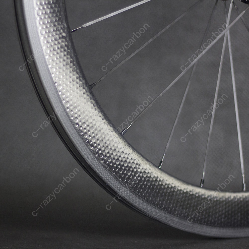 Dimple Front and Rear45/50/58/80mm High Level 700C Road Dimple Carbon Wheels Clincher Basalt Brake Surface