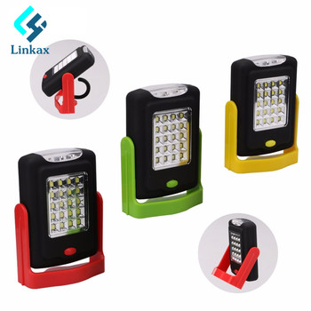 Portable LED Light Flashlight LED Torch Lantern Work Light 23 LED 2 Modes Camping Bicycle Lamp with Built-in Magnet Hook telephony