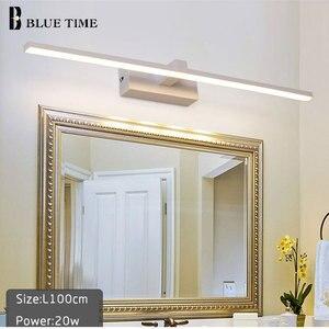 Image 4 - Yeni tasarım moda LED duvar lambaları banyo başucu Modern ayna ön işık siyah & beyaz bitmiş LED duvar ışıkları AC220V110V