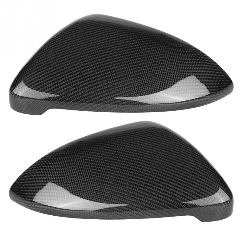 1 Pair Carbon Fiber Car Auto Rearview Mirror Cover Direct Replace for VW Golf MK7GTIR 2013