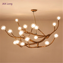 Nordic Vintage LED Pendant Light Lighting Design Glass Resin Branch Lamp Lampara Lustre Art Kitchen Fixtures