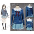 Beyond the Boundary Mitsuki Nase Blue Dress Cosplay Costume