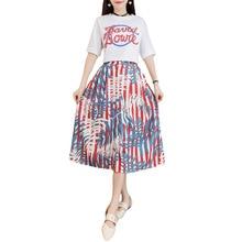 2019 Women Summer Boho Beach Dress Two Piece T Shirt+Dress Suits Print Shirt Sexy Maxi Long Elegant Party