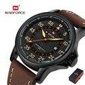 Naviforce marca de lujo militar reloj de los hombres correa de cuero relojes de cuarzo reloj masculino relojes deportivos militar relogio masculino