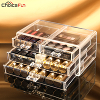 Makeup Organizer Storage Box Rangement Maquillage Plastic Drawers Drawer Organizer For Cosmetics Organizador Maquillaje 1005 1
