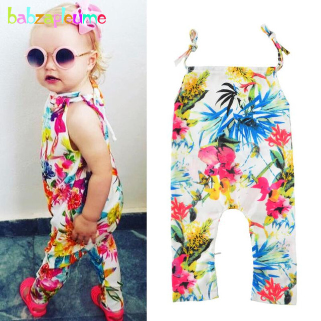 3bb1afb7f931 Summer Newborn Girls Romper Baby Clothes Brands Flower Design Toddler Girls  Jumpsuits Cute Cool Kids Clothing overalls New A190