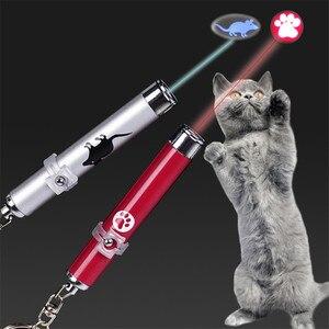 Image 1 - Забавная светодиодная Лазерная игрушка для домашних животных, Лазерная Игрушка для кошек, указка для кошек, световая ручка, Интерактивная игрушка с яркой анимационной мышью, тенью