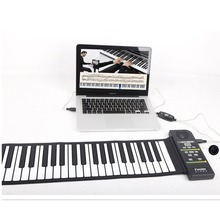 88 Keys Roll Up Piano Digital piano Flexible Silicone Folding Electronic Keyboard for Children Student Musical Instrument недорого