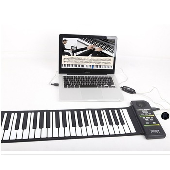 цена на 88 Keys Roll Up Piano Digital piano Flexible Silicone Folding Electronic Keyboard for Children Student Musical Instrument