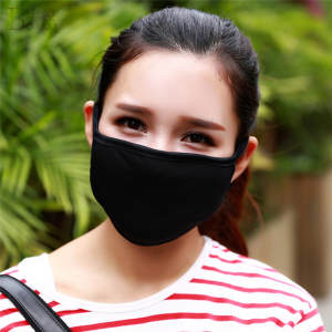 Cotton Black Women Men Unisex Muffle Face Mouth Masks