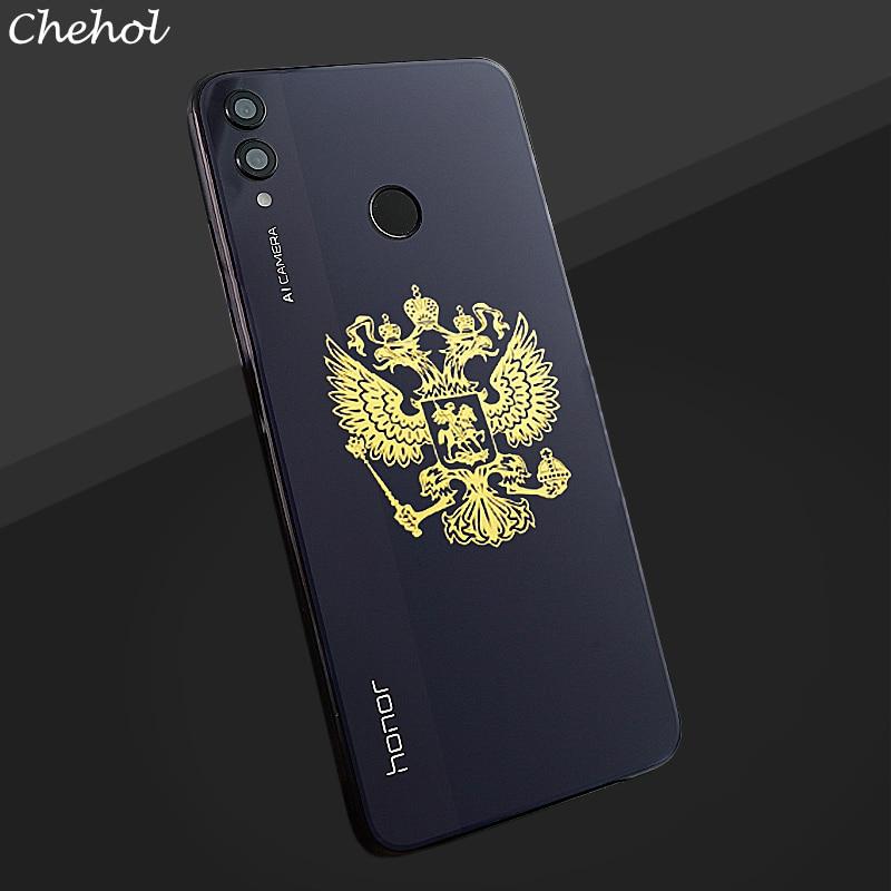 Autocollant sur le téléphone doré métal Nickel autocollants pour étuis de téléphones portables blason de la russie pour téléphone portable couvre autocollants