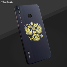 Sticker On The Phone Golden Metal Nickel Stickers For Mobile Cases Coat of Arms Russia Cell Covers