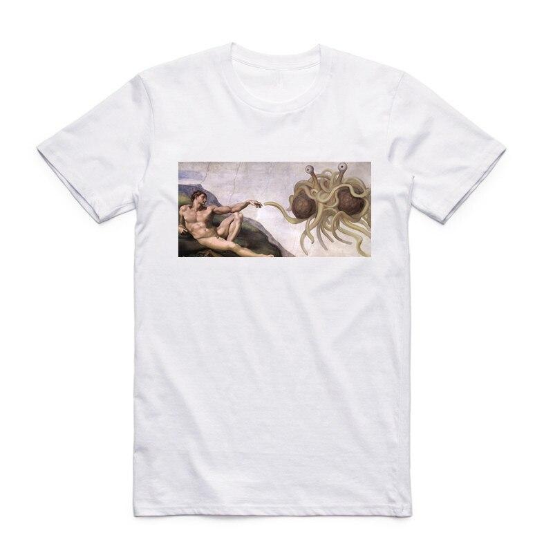 Asian Size Men Women Printing FSM Flying Spaghetti Monster T-shirt Summer Casual O-Neck Short Sleeve Funny Tshirt HCP4297