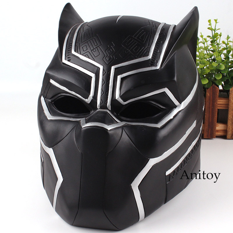 Marvel Comics Marvel Black Panther Action Figure Figurine Black Panther Helmet for Cosplay Toys 21cm