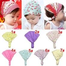 Naturalwell Little girl print headbands Cotton bandana hair accessories bandage on head for Kids cut flower