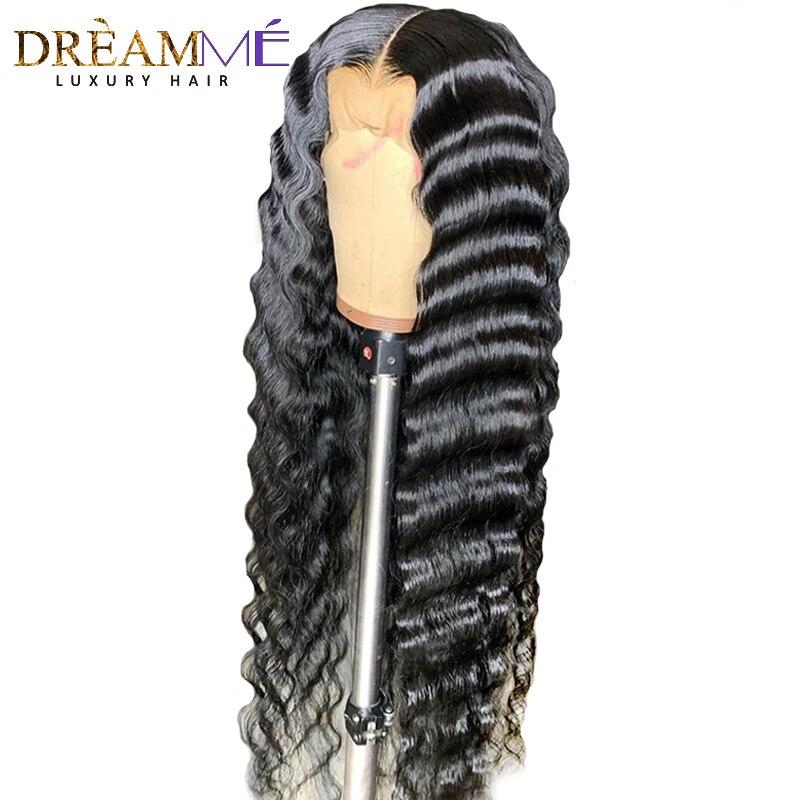 13 6 Deep Part Lace Front Human Hair Wig For Black Women PrePlucked Brazilian Deep Wave