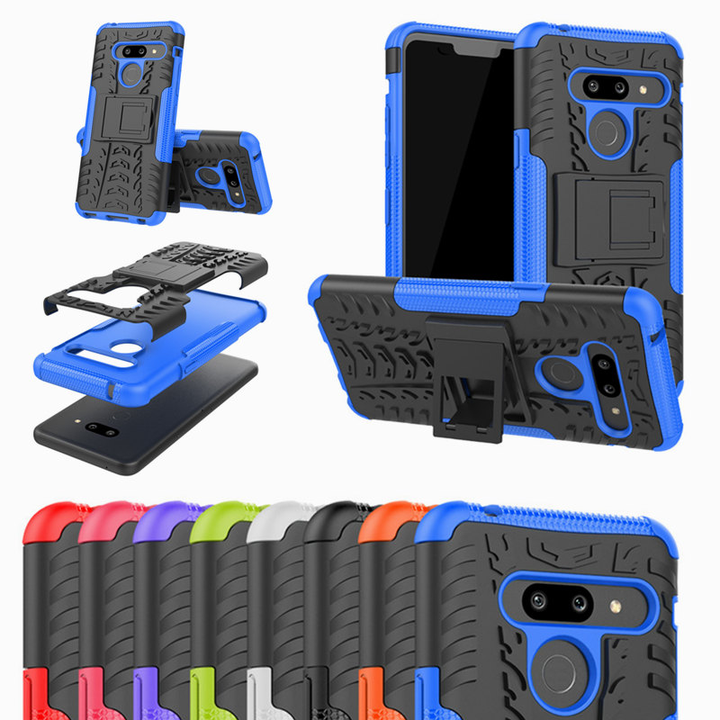 For LG G8 ThinQ case Shockproof TPU+Hard PC Hybrid Stand Back Cover For LG K40 V40 V50 Q7 G7 Q6 V30 Plus <font><b>G6</b></font> Pro Armor Coque image