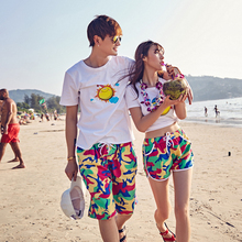 Aliexpress of high sales of beach pants Beach pants honeymoon vacation seaside beach beach pants suit men and women lovers pants