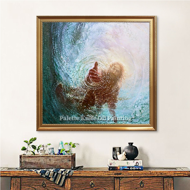 Jesus Christ LDS Canvas Painting Poster and Print Lord God Religious ...