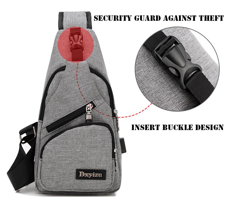 ec4d491b24 New Arrival Oxford Men Chest Pack Single Shoulder Strap Back Bag ...