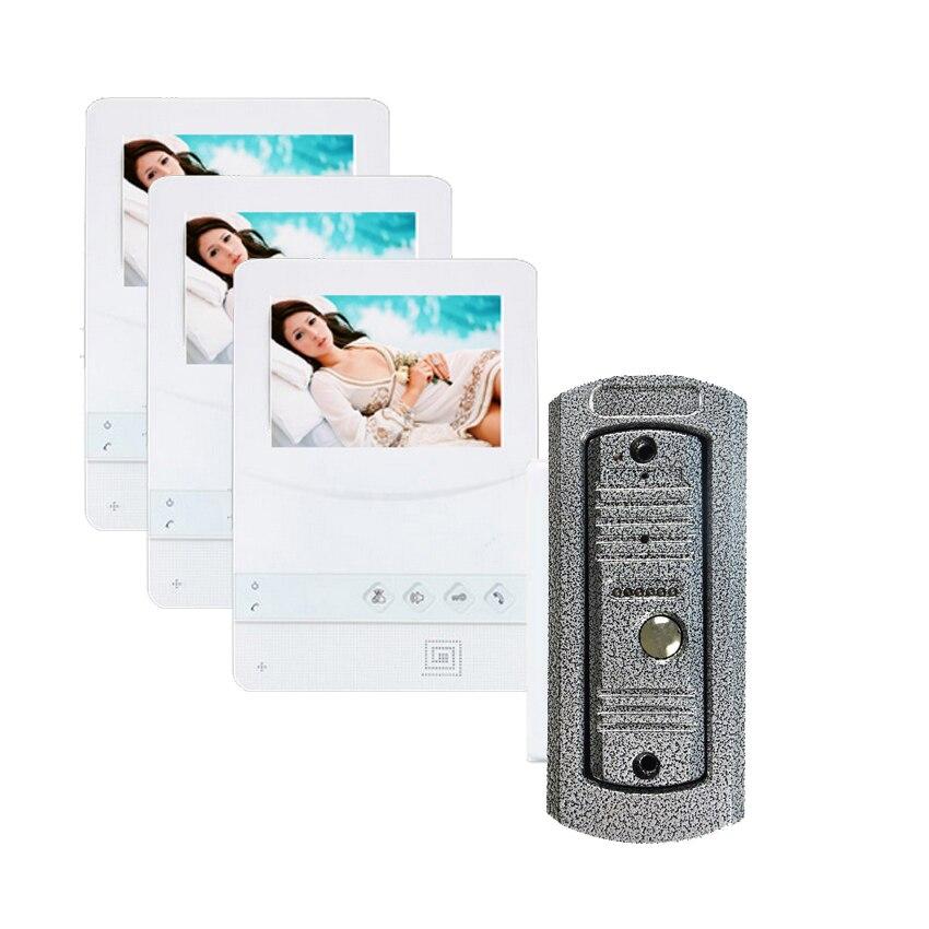 SMTVDP Home Security 4.3TFT Monitor LCD Color Video DoorPhone Intercom Waterproof Night Vision 700 TVL Camera Waterproof Cover