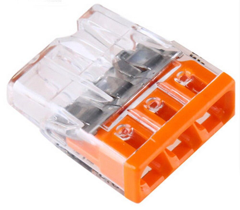 50 pces 2273 203 conector original conector do diodo emissor de luz conectores de emenda compactos