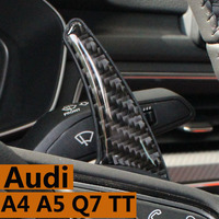 To adapt to the new audi A4 A5 Q7 TT TTS shift dial Modification for carbon fiber steering wheel car interior 3 d stickers