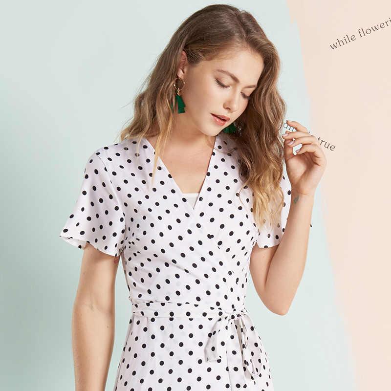Mostnica Boho Белые пляжные платья в горошек для леди с расклешенными короткими рукавами точечное винтажное длинное платье для отдыха вечерние и свадебные