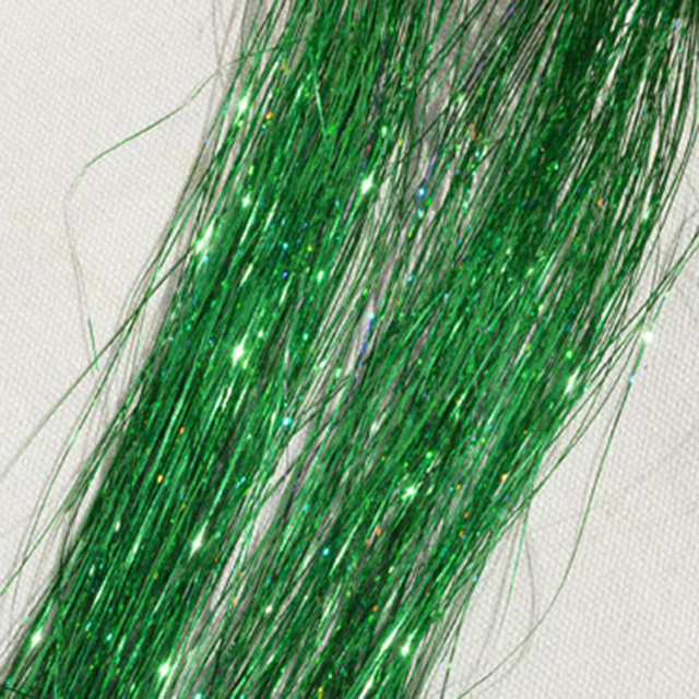 1 Bags Hair Tinsel Sparkle Glitter Extensions Highlights False hair Strands Party Accessories  For Girls Party 8 Colors 4