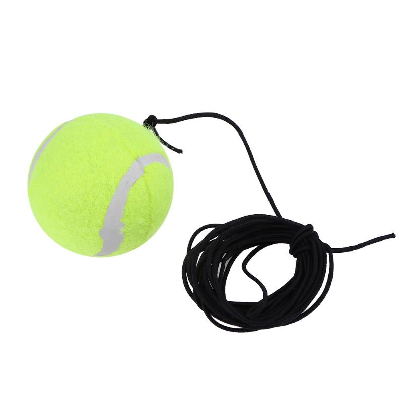 67mm Diameter High Elasticity Self-Study Woolen Training Tennis Ball W/3.7 Meters Detachable RopeString For Training Competition