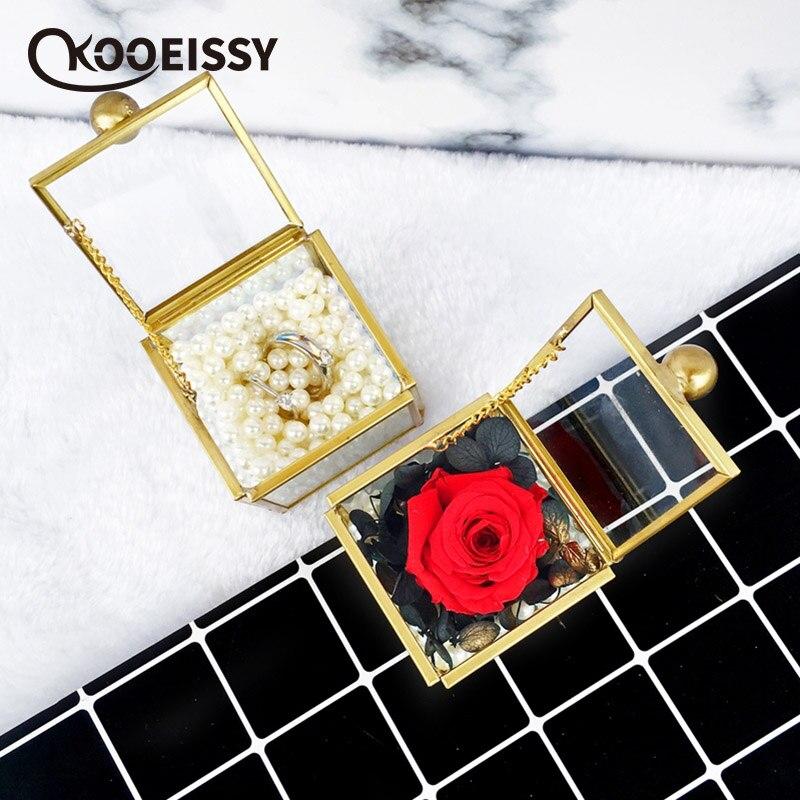 Jewelry-Box Terrarium Geometric Multi-Faceted Wedding-Ring Minimalist Modern Tabletop