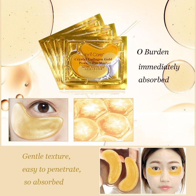[20st] Naturkrystallkollagen Gullpulver Øyemask Anti-aldring - Hudpleie - Bilde 3