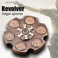 Revolver Bullets Stlye Spiner Fidget Hand Spinner Metal Toy Finger Spinner For Autism And Anxiety Stress