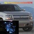 O Envio gratuito de 7 pçs/lote Branco Interior Luzes LED Para Chevrolet Tahoe 2007-presente