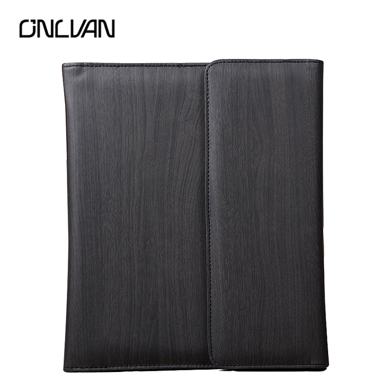 ONLVAN Multifunction Business Notebook with Power for Phone 6000 mAh OEM Design School /Office Supplies Sketchbook Case navy color manager notebook with 6000 mah power bank office supply document bags business travel accessories accept oem order