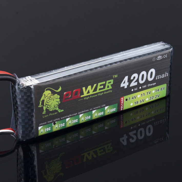 1pcs LION POWER 7.4V 4200mAh 25C 2S LiPo Battery With T Plug for RC Car Airplane Helicopter 7.4 V 4200 mah 2S Lipo Battery lion power 6s 22 2v 4200mah lipo battery 30c for remote control helicopter and rc car 6s lipo 22 2 v 4200 mah t xt60 plug